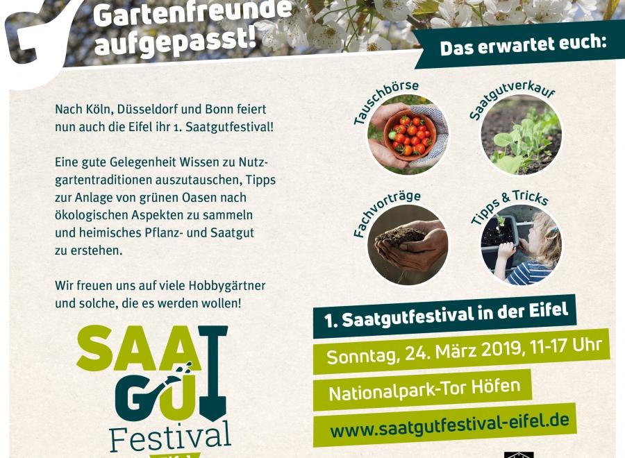 1. Saatgutfestival in der Eifel, Sonntag, 24. März 2019 von 11-17Uhr im Nationalparktor Höfen