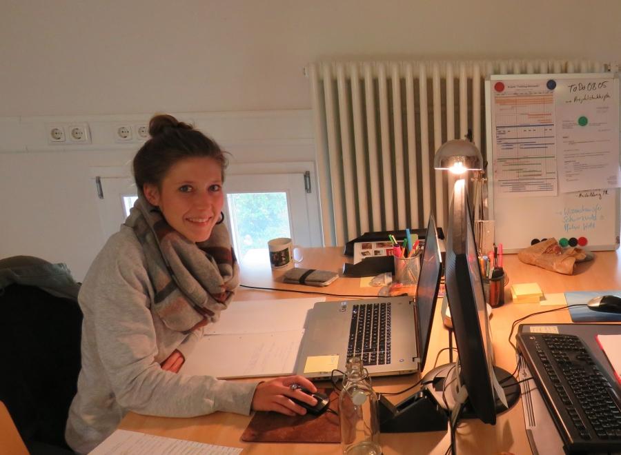 Neue Mitarbeiterin in unserem Büro